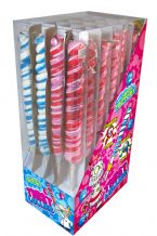 "Candy Factory Red/Blue Twist Pop Lolly 7.5"" 19cm"